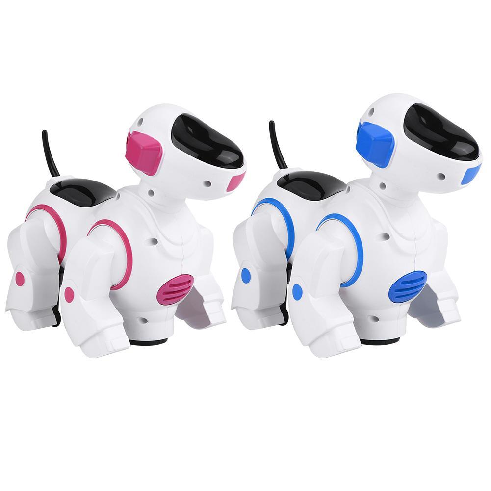 Hot Robot Dog Pet Toy Smart Kids Intelligent Walking Music Light Puppy Educational Gifts Plastic Toys Robot swing dance to music