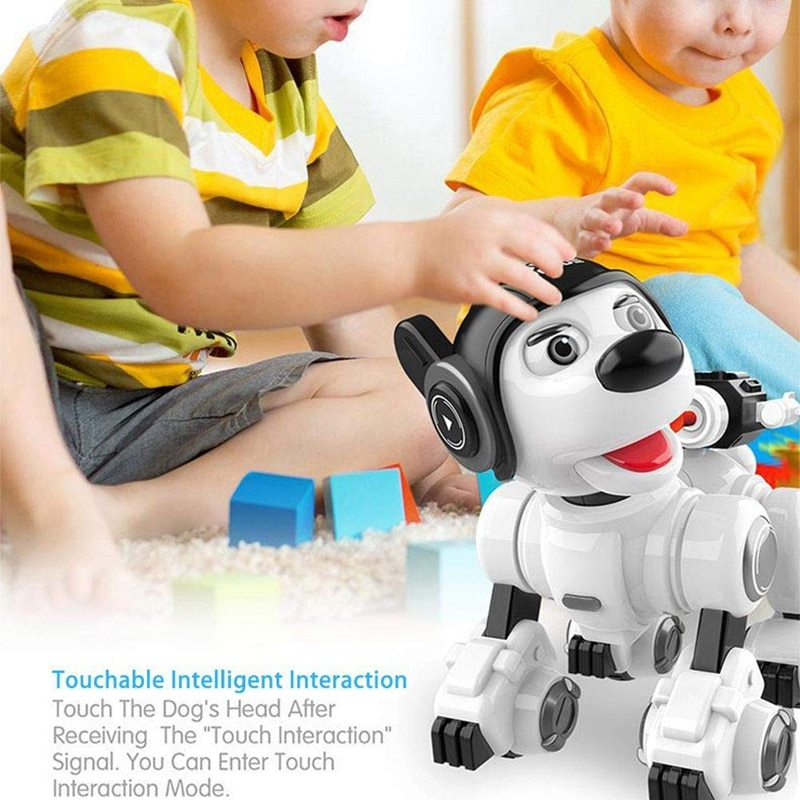 Wireless Remote Control Robot Dog RC Dog Robotic Toys for Contact Sensing Smart Puppy with Blink Sing Dance Mini Pet Robot
