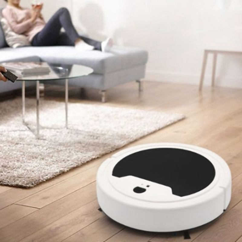 Triple Robot Vacuum Cleaner for Home Office Rechargeable Auto Dirt Dust Smart Mop Floor Corners Dust Cleaner Wa