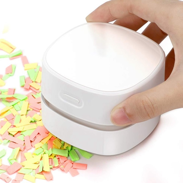 Desktop Vacuum Cleaner, Rechargeable Battery Operated, Portable Cordless Mini Tabletop Crumb Dust Sweeper, Energy Saving, High E