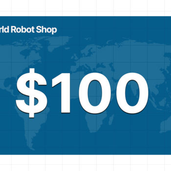 World Robot Shop 100 dollar gift card