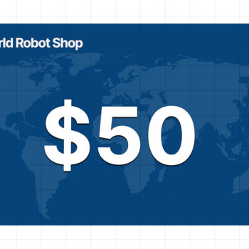 World Robot Shop 50 dollar gift card